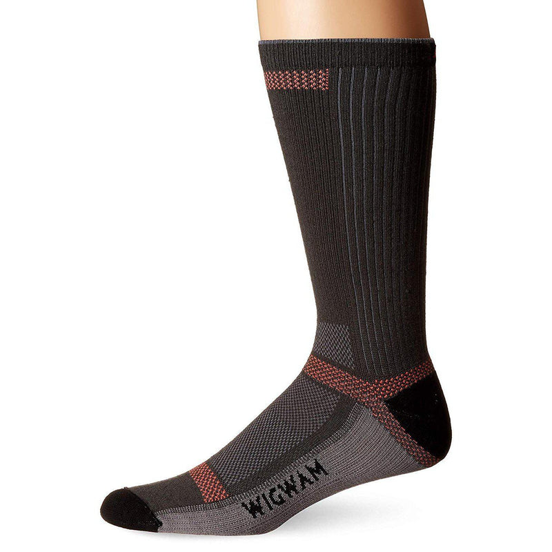 Wigwam Men's Cool-Lite Ultimax Ultra-Lightweight Crew Sock - Charcoal / Large