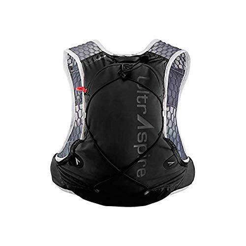 "Ultraspire Alpha 3.0 Hydration Pack | Fluid Capacity up to 3 Liter | 2 Bottles Included | BPA & PVC Free Bladder - Pitch Black / LG (Chest Size: 37""-42"")"