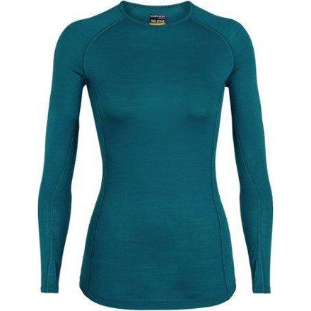 Icebreaker Women's 150 Zone Long Sleeve Crew Baselayer - Kingfisher/Arctic Teal / Small