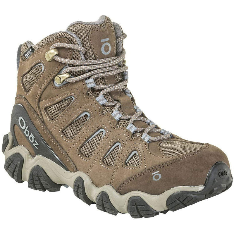 Oboz Sawtooth II Mid B-Dry Hiking Boot - Women's - Brindle/Tradewinds Blue / 10