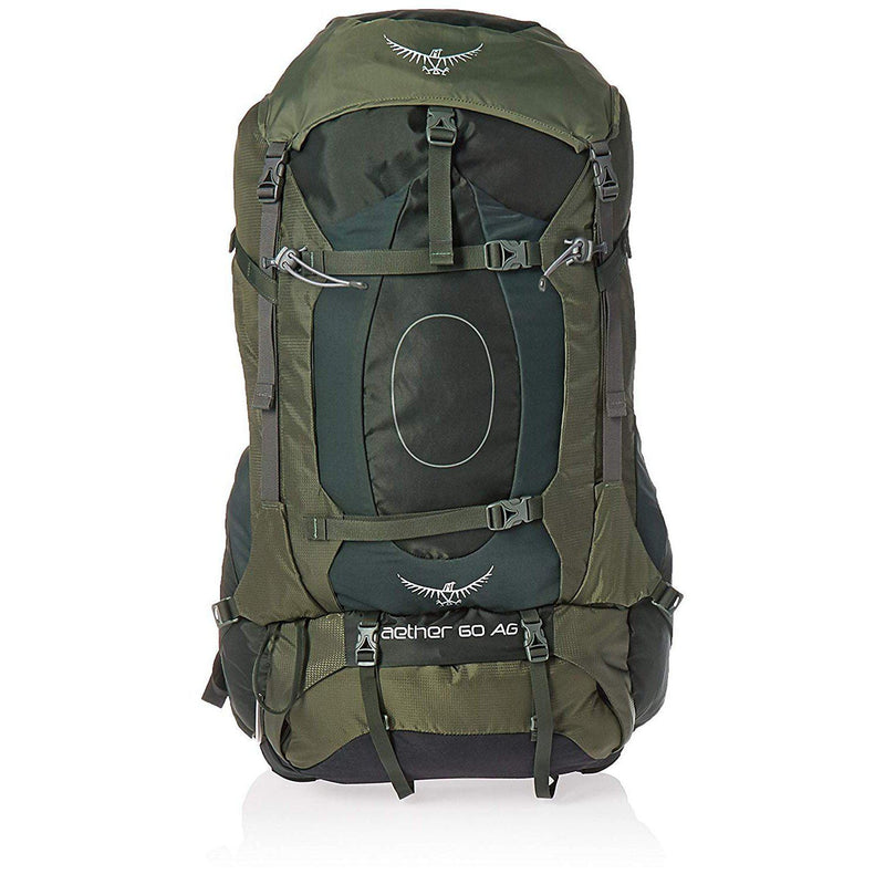 Osprey Packs Aether AG 60 Men's Backpacking Backpack - Adirondack Green / Large