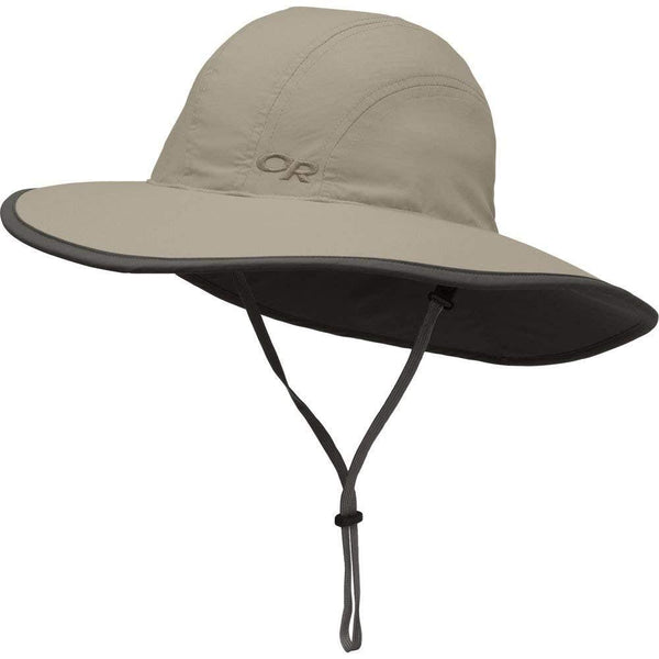 Outdoor Research Kid's Rambler Sombrero Hat - Large / Khaki/Dark Grey