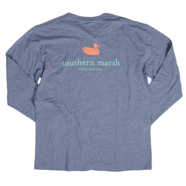 Southern Marsh Men's Authentic Long Sleeve Shirt - Washed Slate / Large