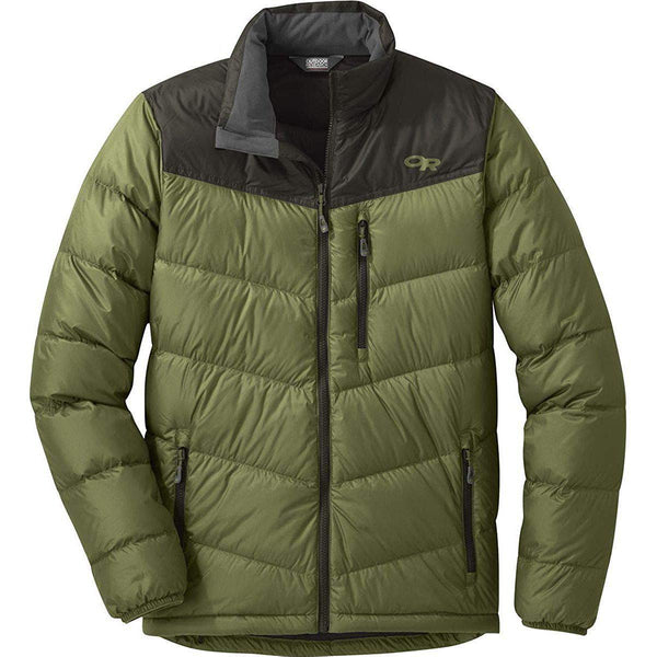 Outdoor Research Men's Transcendent Down Jacket - Seaweed/Forest / Small