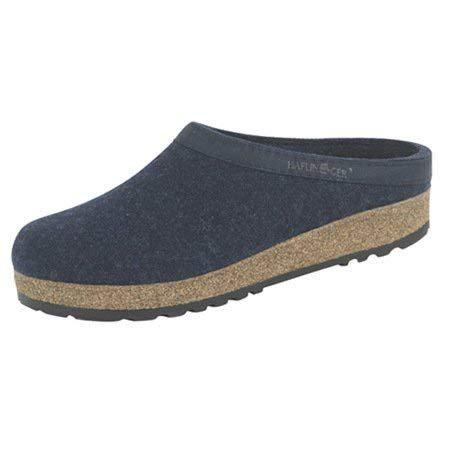 Haflinger Unisex GZL Leather Trim Grizzly Clog - Captain's Blue / 12 M US