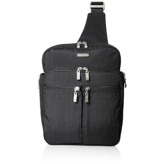Baggallini Messenger Bagg with Rfid Cross Body - Charcoal
