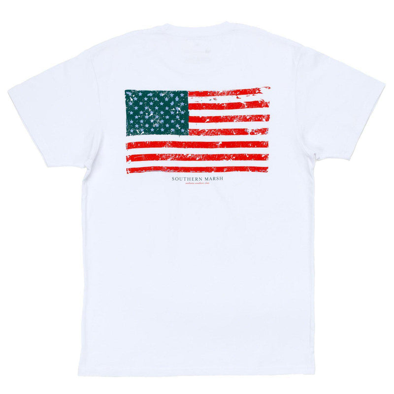 Vintage Flag - White / Large