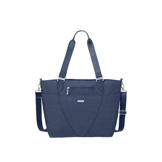 Baggallini Avenue Lightweight Tote Bag - Multi-Pocketed, Water-Resistant Travel Purse with Adjustable and Removable Crossbody Strap - Grivet Outdoors
