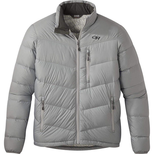 Outdoor Research Men's Transcendent Down Jacket - Light Pewter / Large