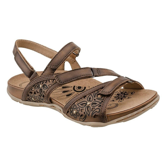 Earth Women's Maui Sandal - Sand Brown Soft Leather / 10