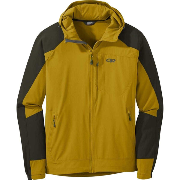 Outdoor Research Men's Ferrosi Hooded Jacket - Turmeric/Forest / Large