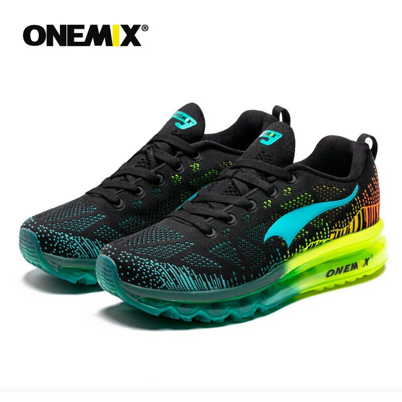 ONEMIX Men's Running Shoes - Black/Blue / 10