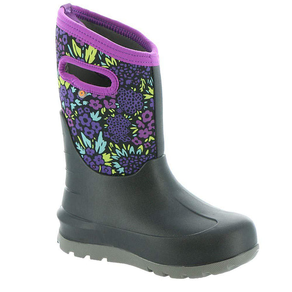Bogs Outdoor Boots Girls Neo Classic NW Garden Waterproof 72505 - Black Multi / 2 Little Kid