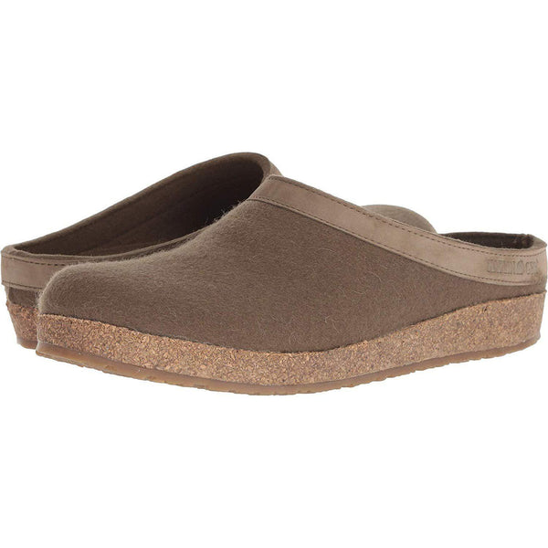 Haflinger Unisex GZL Leather Trim Grizzly Clog - Earth 1 / 36 M EU