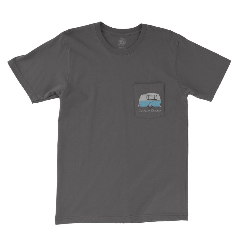 Parks Project Happier Camper Pocket Tee - Charcoal / L