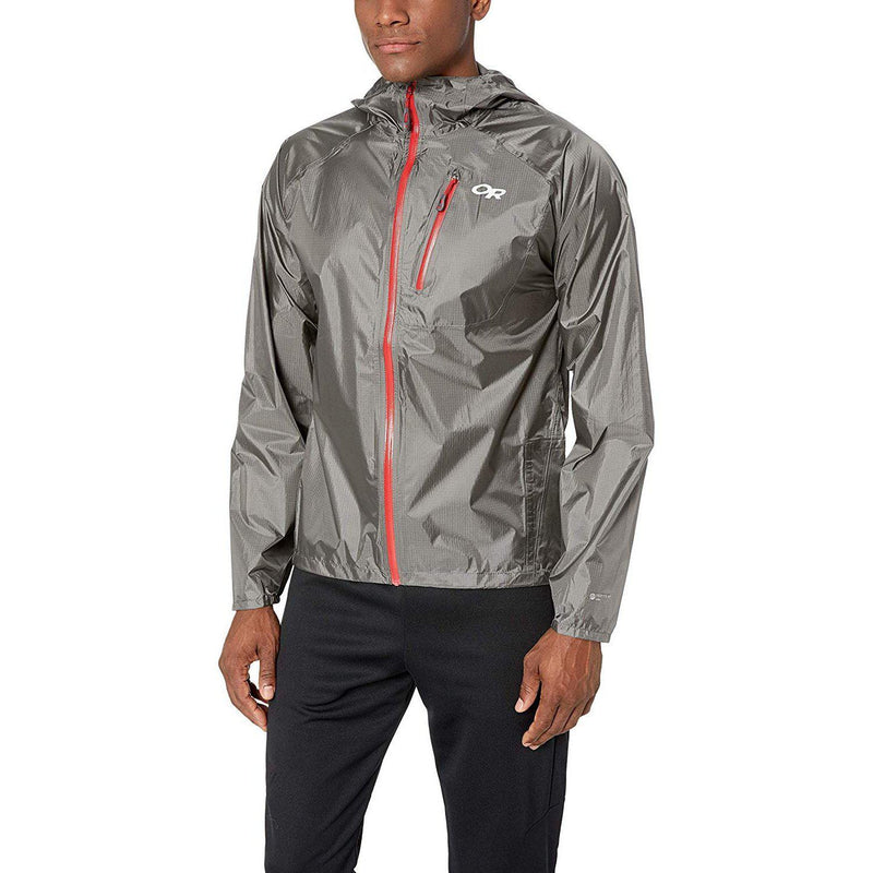 Outdoor Research Men's Helium Ii Jacket - Pewter/Tomato / Large