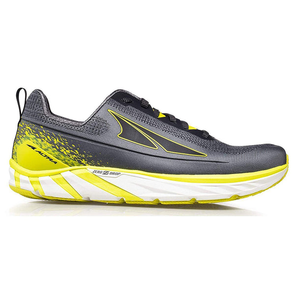 Altra Men's Torin 4 Plush Road Running Shoe - Gray/Lime / 10
