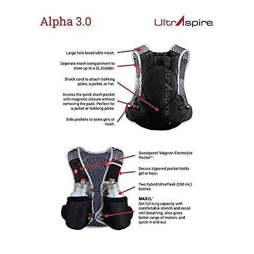Ultraspire Alpha 3.0 Hydration Pack | Fluid Capacity up to 3 Liter | 2 Bottles Included | BPA & PVC Free Bladder - [variant_title]