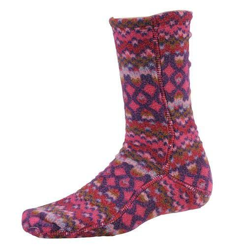 Acorn VersaFit Fleece Slipper Socks for Men and Women - Magenta Cable / L Men's 10-11/Women's 11.5-12.5