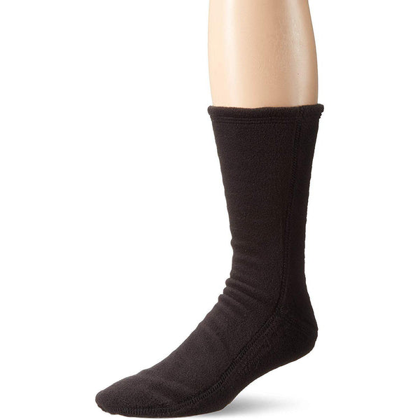Acorn VersaFit Fleece Slipper Socks for Men and Women - Black / L Men's 10-11/Women's 11.5-12.5