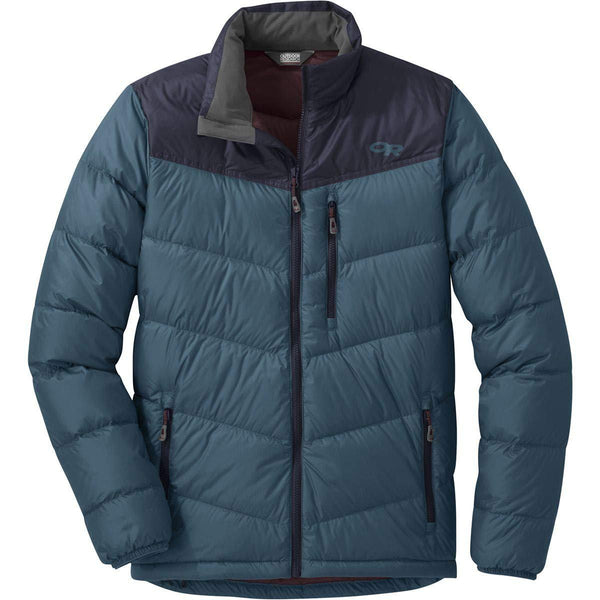 Outdoor Research Men's Transcendent Down Jacket - Prussian Blue/Ink / Medium