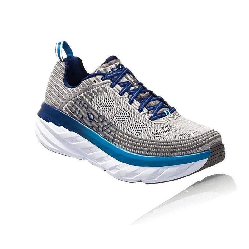 HOKA ONE ONE Men's Bondi 6 Running Shoe - Vapor Blue/Frost Gray / 10