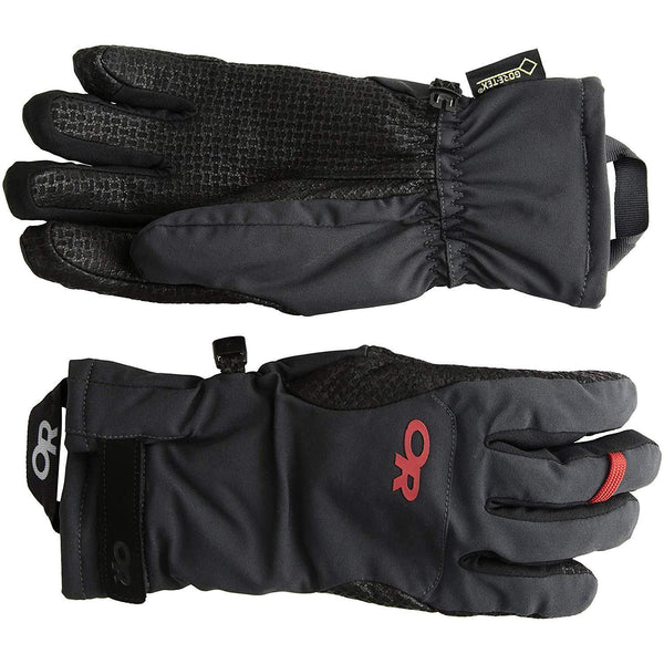 Outdoor Research Women's Ouray Ice Gloves - Black/Tomato / Large