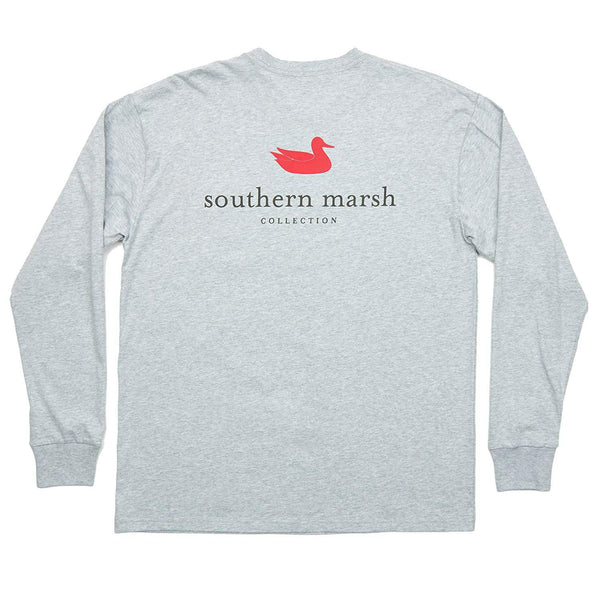 Southern Marsh Men's Authentic Long Sleeve Shirt - Light Gray / Large