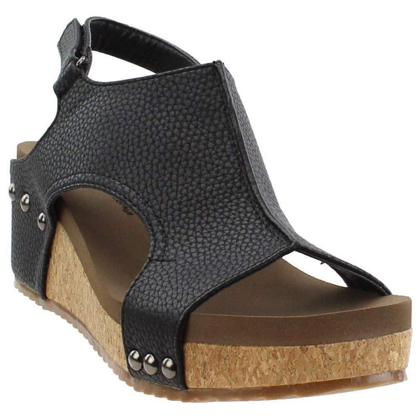 Corkys Volta Wedge Sandal - Black / 10