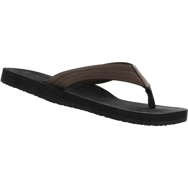 Cobian Men's The Costa Flip Flops - Brown / 13