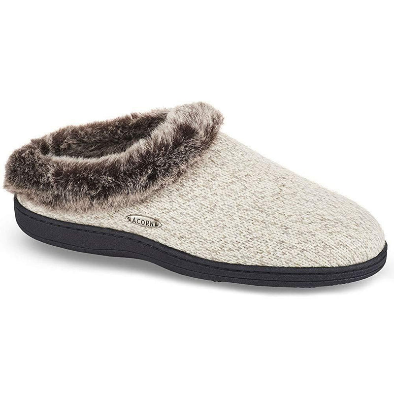 Acorn Chinchilla Clog Charcoal Heather Womens Slippers