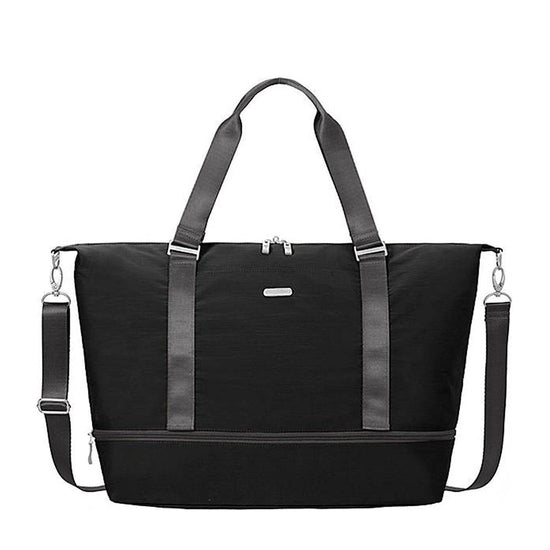 Baggallini Expandable Carry on Duffel - Black/Charcoal / One Size
