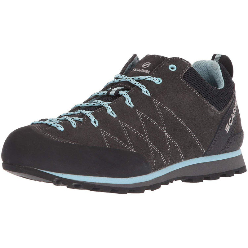 SCARPA Women's Crux Walking Shoe - Shark/Blue Radiance / 38.5