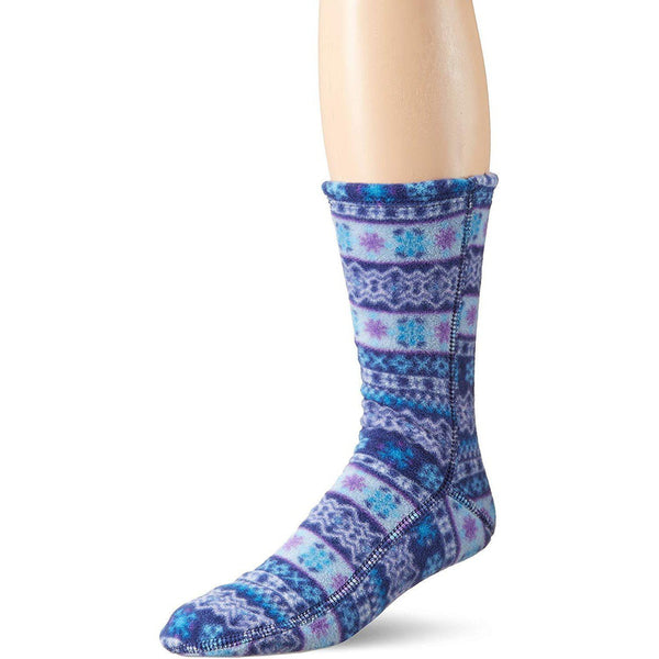 Acorn VersaFit Fleece Slipper Socks for Men and Women - Icelandic Blue / L Men's 10-11/Women's 11.5-12.5