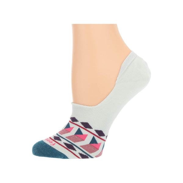 Feetures Women's Hidden Patchwork Athletic Running Socks - Teal / M