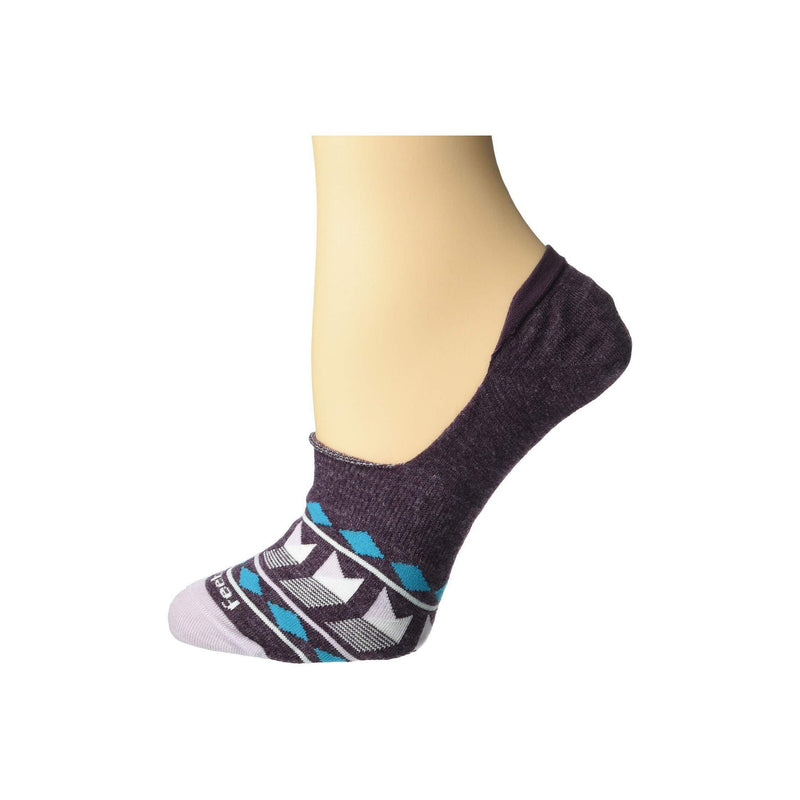 Feetures Women's Hidden Patchwork Athletic Running Socks - Mauve / L