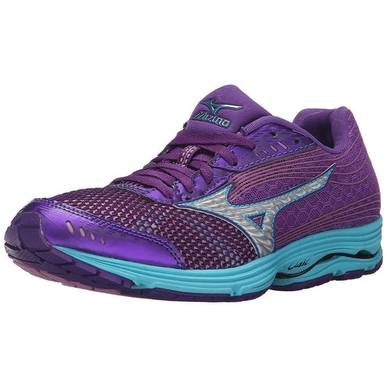 Mizuno Women's Wave Sayonara 3 Running Shoe - Royal Purple/Silver / 6