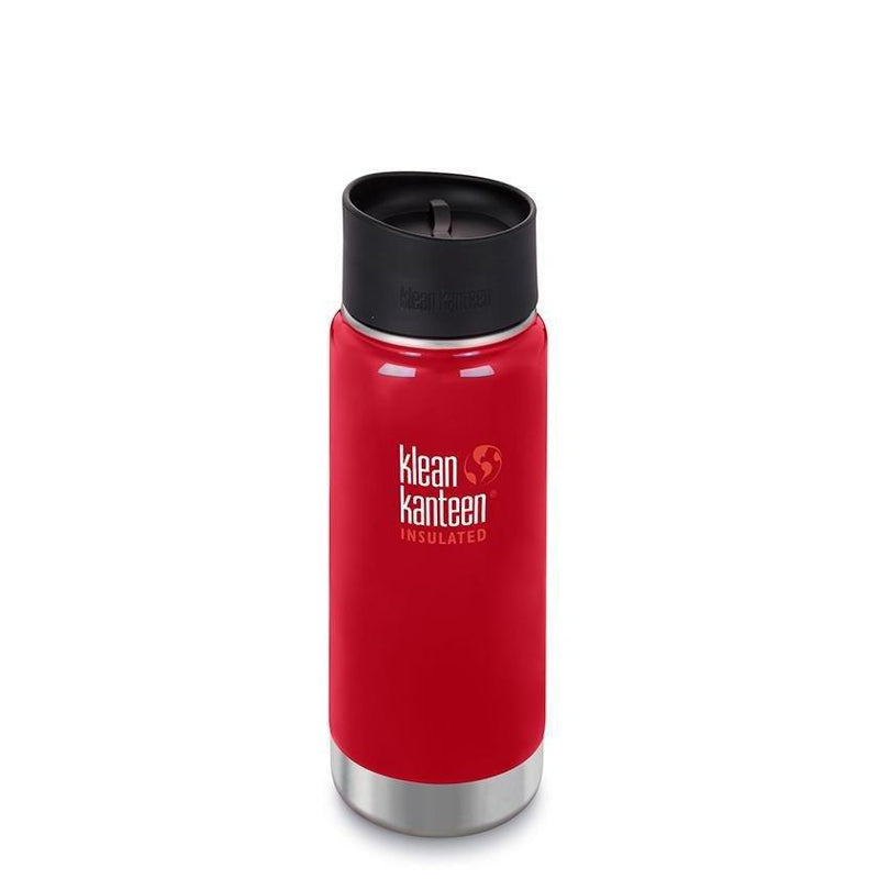 Klean Kanteen Insulated Wide 16oz - Café Cap - Mineral Red