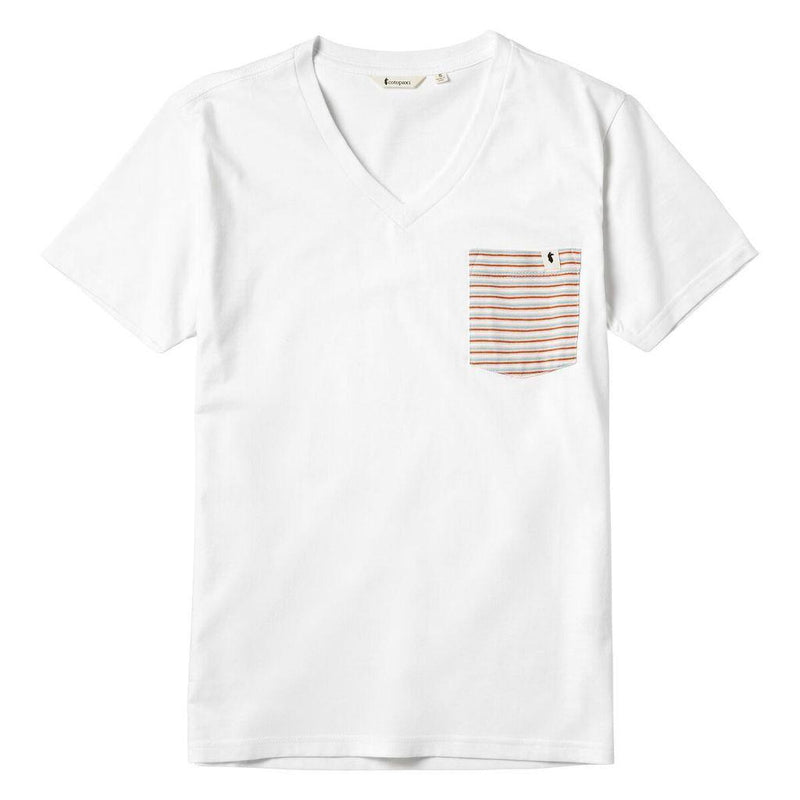 Cotopaxi Women's Buenas Chest Pocket T-Shirt - White Pocket Stripe / Large