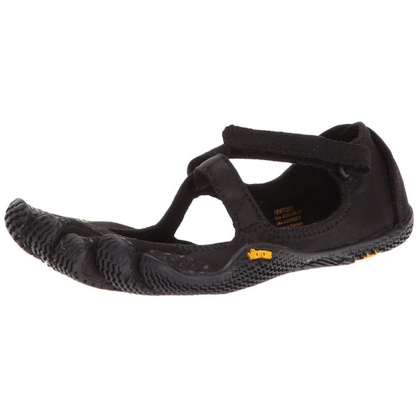 Vibram Five Fingers Women's V-Soul Fitness and Cross Training Yoga Shoe - Black / 6-6.5