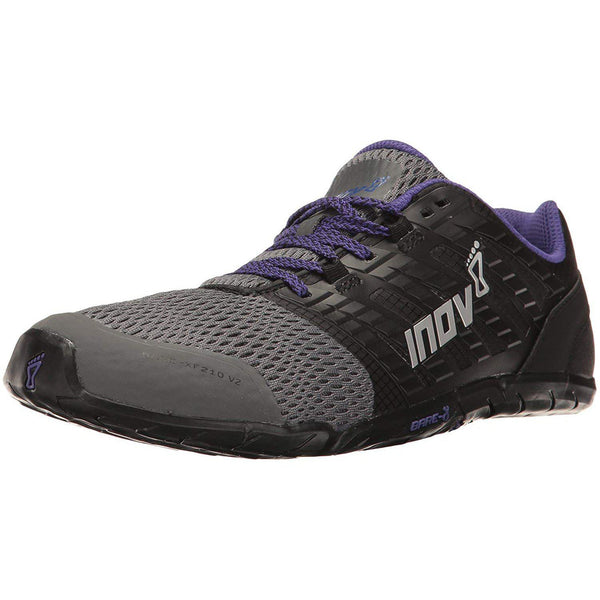 Inov-8 Women's Bare-XF 210 V2 Sneaker - Grey/Black/Purple / 10.5