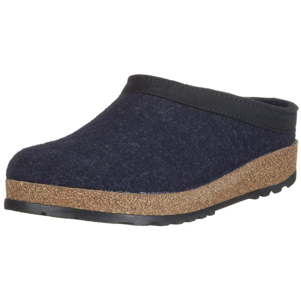 Haflinger Unisex GZL Leather Trim Grizzly Clog - Captains Blue / 10