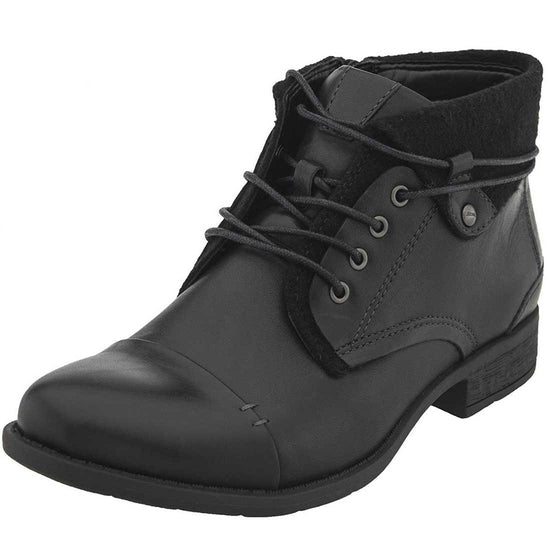 Earth Women's Rexford Ankle Boot - Black Full Grain Leather / 7