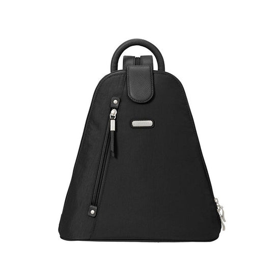 Baggallini Metro Backpack with RFID Phone Wristlet - Black