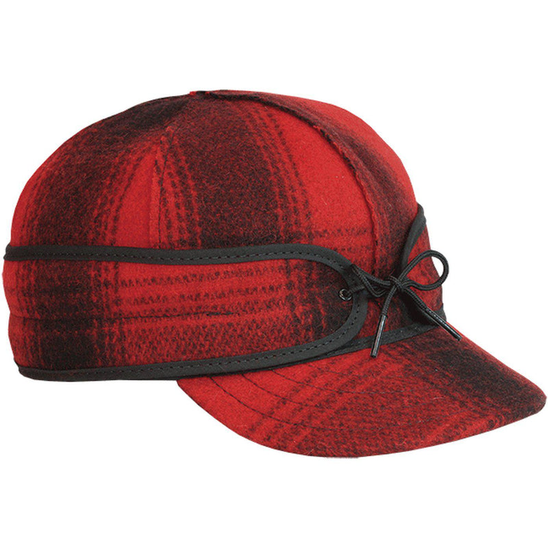 The Original Stormy Kromer Wool Cap - Red/Black Plaid / 6 7/8