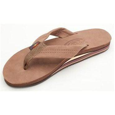 Rainbow Sandals Men's Premier Leather Double Layer Arch - Dark Brown / M 11 - 12