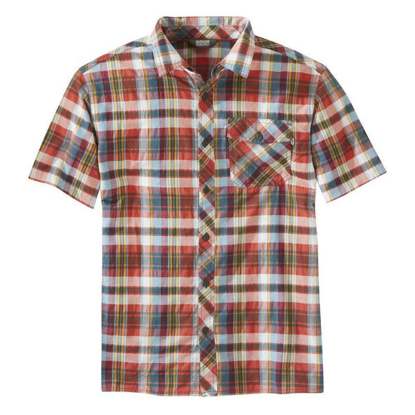 Outdoor Research Men's Pale Ale S/S Shirt - Washed Peacock Large Plaid / Large