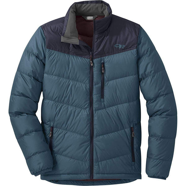 Outdoor Research Men's Transcendent Down Jacket - Prussian Blue/Ink / Small
