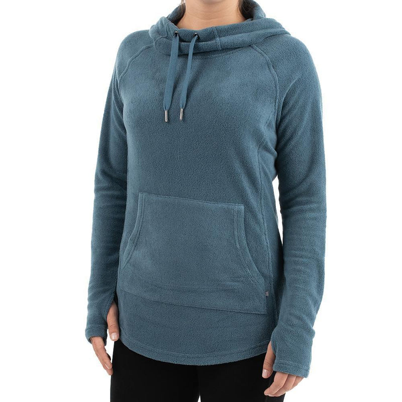 Free Fly Women's Bamboo Polar Fleece Hoody - Moonlight Blue / X-Small