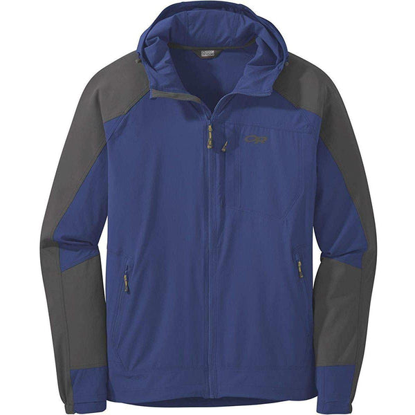 Outdoor Research Men's Ferrosi Hooded Jacket - Sapphire/Storm / XX-Large